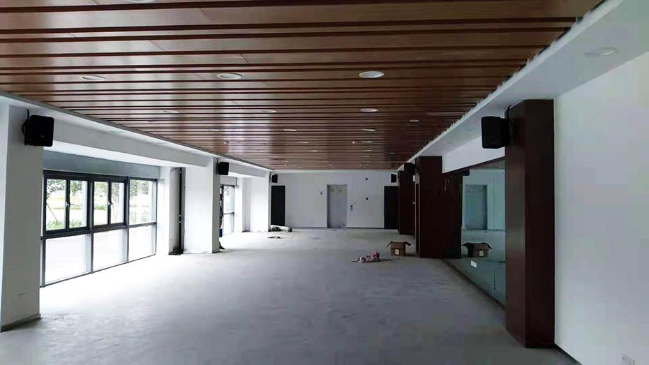 广州某楼盘营销中心会议室采用了爵士龙民用音响会议音响系统